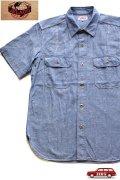 「JELADO」 Ventilation Work Shirts ジェラード ベンチレーション シャンブレーワークシャツ JP22125 [インディゴ]