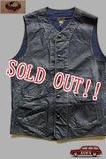 「JELADO」  Squad Vest ジェラード スクアッド ベスト オイルドコーディング加工 AG22518 [インディゴ]