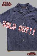 「FULLCOUNT」 Italian Collar Resort Shirts フルカウント イタリアンカラー リゾートシャツ  Lot.4974 [エッグプラント]