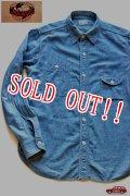 「JELADO」Smoker Shirts ジェラード シャンブレー ガチャポケワークシャツ JPSH-1302 [インディゴ]