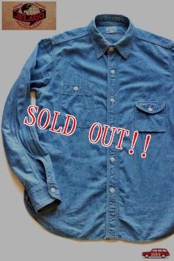画像1: 「JELADO」Smoker Shirts ジェラード シャンブレー ガチャポケワークシャツ JPSH-1302 [インディゴ]