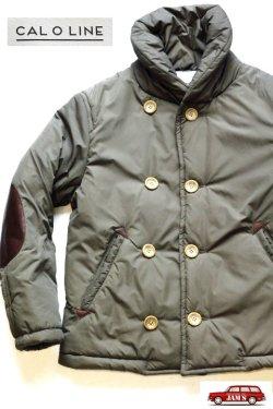 画像1: 「CAL O LINE」Shawl Collar P-Coat キャルオーライン ショールカラー Pコート  [カーキブラウン]