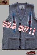 「JELADO」Santa Fe Knit Vest ジェラード サンタフェ チマヨニットベスト CB31841 [ソルト&ペッパー]