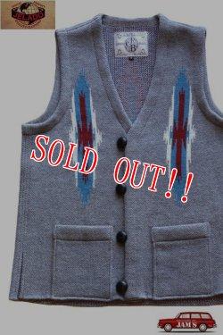 画像1: 「JELADO」Santa Fe Knit Vest ジェラード サンタフェ チマヨニットベスト CB31841 [ソルト&ペッパー]