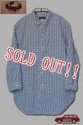 「JELADO」Lower Shirts ジェラード ロウワーシャツ 7分袖 ギンガムチェック AG31112 [フェイドインディゴ]
