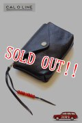 「CAL O LINE」 BEADS LEATHER POUCH キャルオーライン ビーズ ポーチ CL181-127 [ブラック]