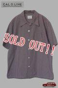 「CAL O LINE」 OPEN COLLAR S/S SHIRTS キャルオーライン オープンカラー 半袖ボックスシャツ  CL181-061 [パープル]