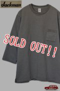 「Jackman」 Dotsume 1/2-Sleeved T-Shirts ジャックマン 度詰め天竺 5分袖 ポケットTee JM5807 [ウォールグレー]