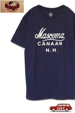 画像1: 「JELADO」Mascoma Tee ジェラード マスコマ プリント 丸胴 半袖Tシャツ AB31250 [ネイビー]