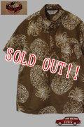 「JELADO」Pullover B.D. Aloha Shirts ジェラード プルオーバー アロハシャツ パイナップル柄 SG32104 [キャラメル]