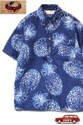 「JELADO」Pullover B.D. Aloha Shirts ジェラード プルオーバー アロハシャツ パイナップル柄 SG32104 [オールドネイビー]