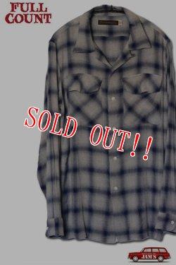 画像1: 「FULLCOUNT」RAYON OMBRAY CHECK SHIRTS フルカウント レーヨン オンブレーチェックシャツ [ブルー]