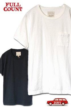 画像1: 「FULLCOUNT」 BASIC POCKET Tee フルカウント ベーシックポケット Tシャツ Lot.5805P [ホワイト・インクブラック]