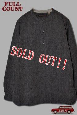 画像1: 「FULLCOUNT」20th Pullover Chambray Work Shirts フルカウント プルオーバー シャンブレー ワークシャツ [ヘザーブラック]