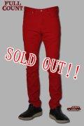 「FULLCOUNT」#1110 STYLE RED COLOR JEANS フルカウント テーパードスリム カツラギ カラージーンズ  [レッド]