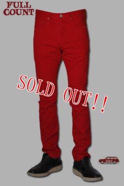 画像1: 「FULLCOUNT」#1110 STYLE RED COLOR JEANS フルカウント テーパードスリム カツラギ カラージーンズ  [レッド]