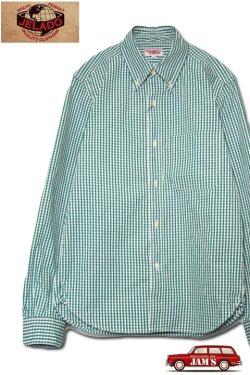 画像1: 「JELADO」B.D.Shirts ジェラード ボタンダウンシャツ ギンガムチェック JP41122 [フォレストグリーン]