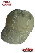 「FULLCOUNT」A-3 ARMY CAP フルカウント コットン アーミーキャップ [カーキ]