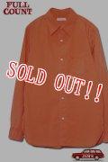 「FULLCOUNT」1930s COTTON DRESS SHIRTS フルカウント コットンドレスシャツ ヴィンテージ加工 [オレンジ]
