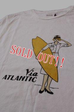 画像3: 「CAL O LINE」VIA ATLANTIC T-SHIRTS キャルオーライン ヴィア アトランティック 半袖Tシャツ  CL191-096 [ホワイト]