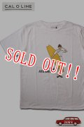 「CAL O LINE」VIA ATLANTIC T-SHIRTS キャルオーライン ヴィア アトランティック 半袖Tシャツ  CL191-096 [ホワイト]