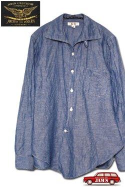 画像1: 「JOHN GLUCKOW」by「JELADO」Professors Shirts ジョングラッコウ ジェラード  プロフェッサーシャツ シャンブレー JG21114 [インディゴ]