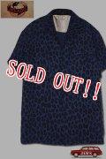 「JELADO」Vincent Shirts ジェラード ヴィンセント シャツ レオパード SG42111 [オールドネイビー]