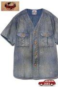 「JELADO」Adventure Shirts Vintage Finish ジェラード アドベンチャーシャツ ヴィンテージ加工 AB42127 [フェイドインディゴウォバッシュ]