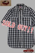 「JELADO」S/S Work Shirts ジェラード 半袖ワークシャツ JP42109 [インディゴチェック]