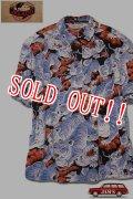 「JELADO」Pullover B.D. Aloha Shirts ジェラード ボタンダウン アロハシャツ 百虎 SG42107 [ブラック]
