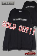「CAL O LINE」THE BROOKLYN BANKS PRINT L/S T-SHIRTS キャルオーライン プリント 長袖Tシャツ  CL1912-007 [ブラック]