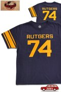 「JELADO」RUTGERS FOOTBALL Tee ジェラード ルトガー フットボール Tシャツ AB42202 [オールドネイビー]