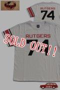 「JELADO」RUTGERS FOOTBALL Tee ジェラード ルトガー フットボール Tシャツ AB42202 [バニラ]