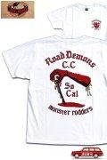 「JELADO」Deavil MC Tee ジェラード デビル モーターサイクル Tシャツ AB42203 [ホワイト]