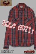 「JELADO」 Unionworkers Shirts ジェラード ユニオンワーカーズシャツ ネルシャツ(ショート丈 ) JP42133 [インディゴ(レッド)]