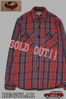 画像1: 「JELADO」 Unionworkers Shirts ジェラード ユニオンワーカーズシャツ ネルシャツ(レギュラー丈 ) JP42134 [インディゴ(レッド)]