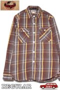 「JELADO」 Unionworkers Shirts ジェラード ユニオンワーカーズシャツ ネルシャツ(レギュラー丈 ) JP42134 [チョコレートブラウン]