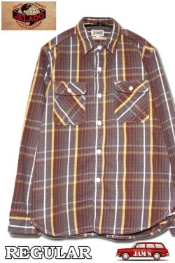 画像1: 「JELADO」 Unionworkers Shirts ジェラード ユニオンワーカーズシャツ ネルシャツ(レギュラー丈 ) JP42134 [チョコレートブラウン]