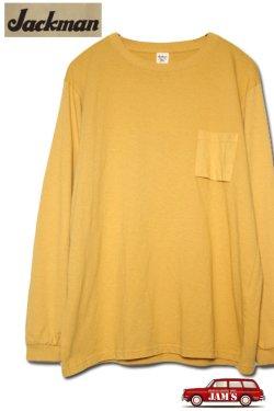 画像1: 「Jackman」 Crew Neck Pocket Long Sleeve T-Shirt クルーネック ポケット ロンTee JM5855 「マスタード」