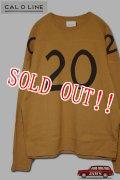 「CAL O LINE」20/20 FOOT BALL T-Shirt キャルオーライン フットボール ロングスリーブ Tシャツ CL192-013PT [マスタード]
