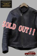 「JOHN GLUCKOW」 by 「JELADO」The Rider Leather Jacket Horsehide ジョングラッコウ ジェラード ザ ライダー ホースハイドシングルライダース JG43402 [ブラック/茶芯]