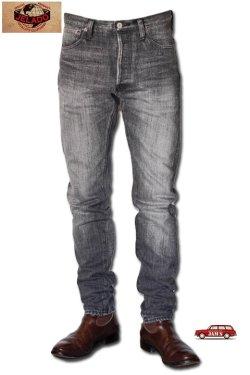 画像1: 「JELADO」Classic Slim Pants Vintage Finish ジェラード クラシックスリム ストレッチデニムパンツ ヴィンテージ加工 JP43355 [フェイドブラック]