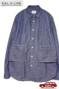 「CAL O LINE」 CHAMBRAY PAINTER SHIRT キャルオーライン シャンブレー ペインターシャツ CL201-018 [インディゴブルー]