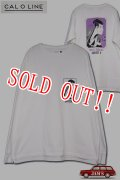 「CAL O LINE」RUN OFF L/S T-SHIRTS キャルオーライン 浮世絵 長袖Tシャツ  CL201-092 [ホワイト]