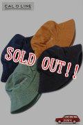 「CAL O LINE」 Corduroy Cruiser Hat キャルオーライン コーデュロイ クルーザー ハット CL201-124 [ネイビー・マスタード・グリーン・ブラック]