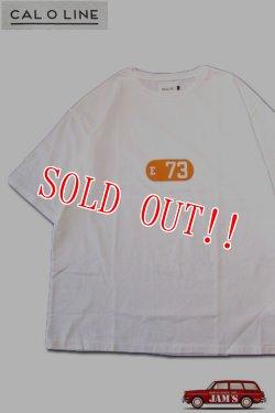 画像1: 「CAL O LINE」E 73 PRINT T-SHIRTS キャルオーライン 良い波プリント 半袖Tシャツ  CL201-085 [ホワイト]