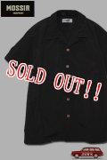 「MOSSIR」John S/S Open Collar Shirt モシール ジョン サプレックスナイロン 半袖オープンカラーシャツ [ブラック]