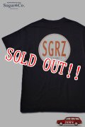 「Sugar & Co.」SGRZ Drop S/S Tee シュガーアンドカンパニー バックプリント ドロップ 半袖Tシャツ [ブラック]