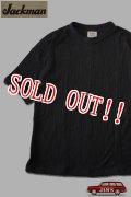 「Jackman」 Himo-T shirts ヒモ付き ワイドシルエット Tシャツ JM5057 「ブラック」
