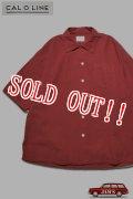 「CAL O LINE」CATALINA Shirt キャルオーライン カタリナシャツ リップル生地 CL201-045 [レッド]